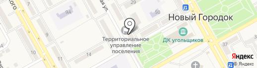 Территориальное управление п.г.т. Новый Городок Администрации г. Белово на карте Нового Городка
