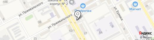 Чибис на карте Нового Городка