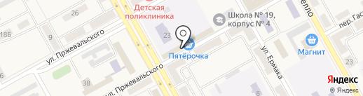 Холди на карте Нового Городка