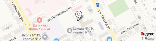 Магазин автозапчастей на карте Нового Городка