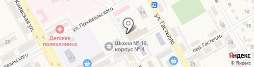 Анастасия на карте Нового Городка