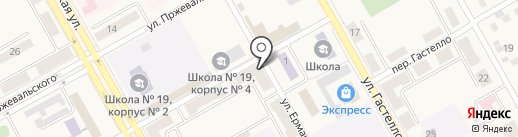 Алиол на карте Нового Городка