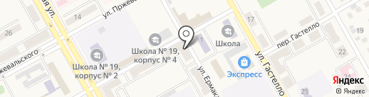 Колхоз Вишневский на карте Нового Городка