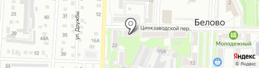 Деловой квартал на карте Белово