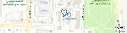 Дюза на карте Белово