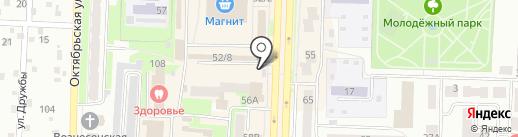 Автостоянка на Советской на карте Белово