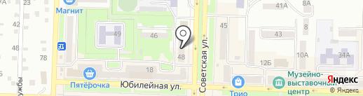 Магазин обуви и сумок на карте Белово