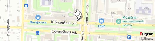Почтовое отделение связи №12 на карте Белово