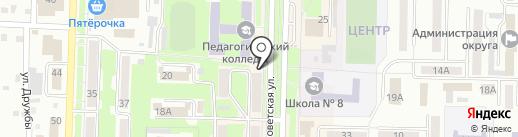 Киоск по продаже мороженого на карте Белово