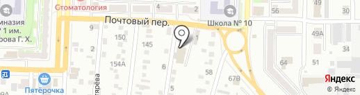 Беловский полиграфист на карте Белово