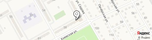 Метелица на карте Нового Городка