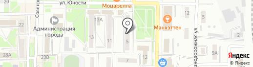 Магазин женской одежды на ул. Юности на карте Белово