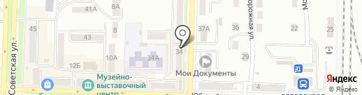Киоск по ремонту обуви на карте Белово