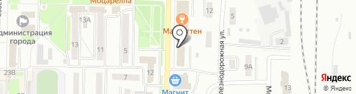 Модный блин на карте Белово