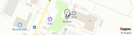 Анюта на карте Белово