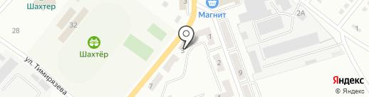 Почтовое отделение связи №16 на карте Белово