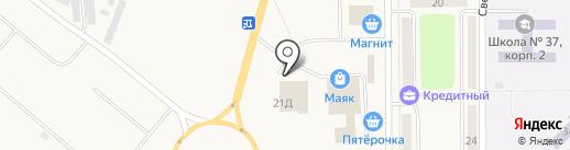 Банкомат, КБ Кольцо Урала на карте Грамотеино