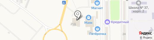 Аист на карте Грамотеино