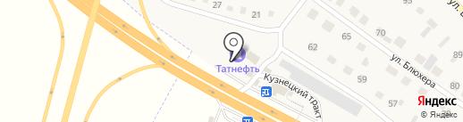 АЗС на ул. Блюхера на карте Грамотеино