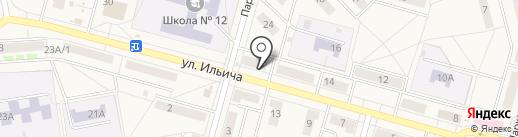 Глобус на карте Инского
