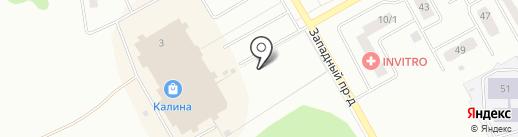 Снежный городок на карте Киселёвска
