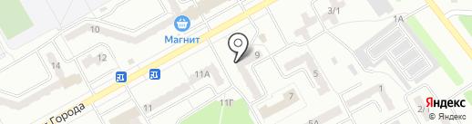 Магазин хлебобулочных изделий на карте Киселёвска