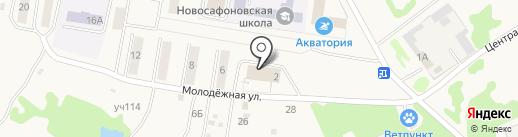 Парикмахерская на карте Новосафоновского