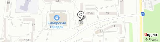 Японамама на карте Прокопьевска