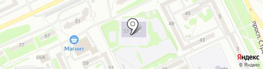 Средняя общеобразовательная школа №11 на карте Прокопьевска