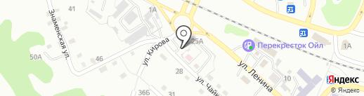 Высота на карте Киселёвска