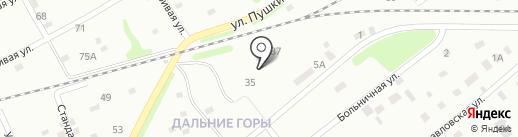 Основная общеобразовательная школа №15 на карте Киселёвска