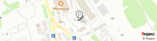 СТО на ул. Дзержинского на карте Киселёвска