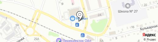 Кузбасский Бройлер на карте Киселёвска