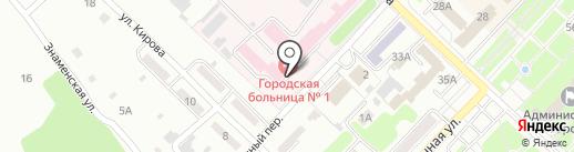 Центральная городская больница, МБУ на карте Киселёвска