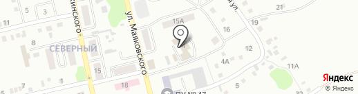 Мустанг на карте Киселёвска