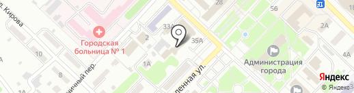 Звезда на карте Киселёвска