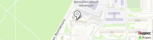 Каскад на карте Прокопьевска