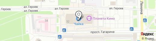 Унция на карте Прокопьевска