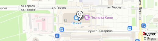 Сибирские сети на карте Прокопьевска