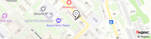 Коместра на карте Киселёвска