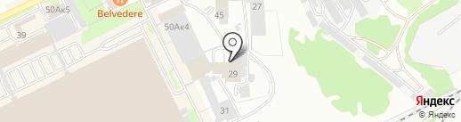 Три богатыря на карте Прокопьевска