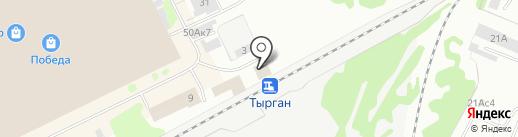 Зенит на карте Прокопьевска