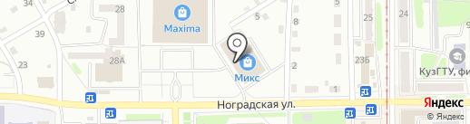 Часовой на страже вашего времени на карте Прокопьевска