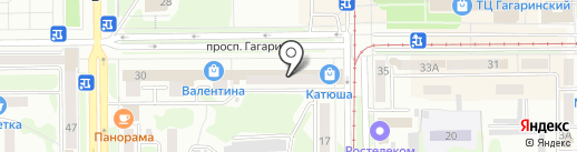 Знание на карте Прокопьевска
