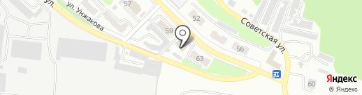 Киселёвское ПТУ на карте Киселёвска