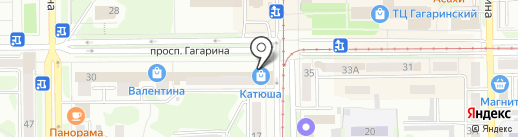 Экона на карте Прокопьевска