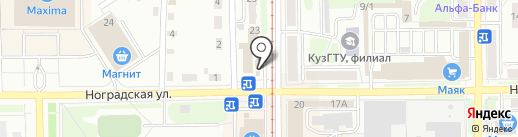 Подорожник на карте Прокопьевска
