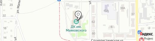 Дворец культуры им. В.В. Маяковского на карте Прокопьевска