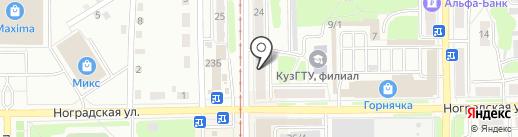 ДЮСШ №2, МБУ на карте Прокопьевска