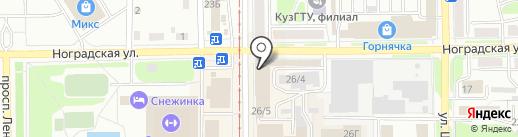 АвтоМоторс на карте Прокопьевска